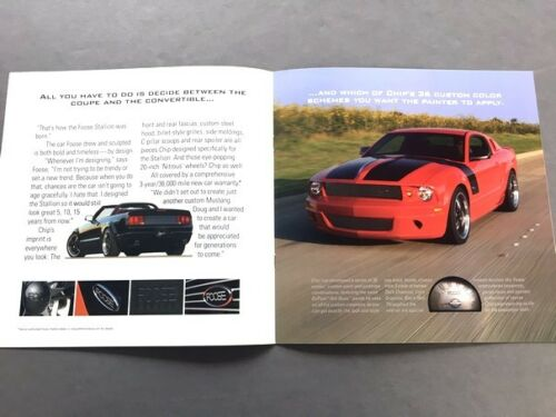 2006 2007 Ford Mustang Foose Chip Stallion Original Car Sales Brochure Catalog