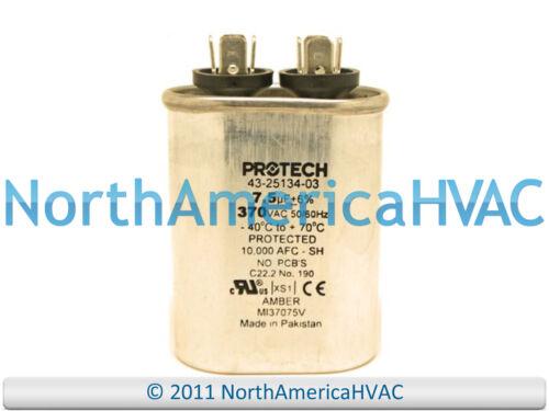 OEM Rheem Ruud WeatherKing Single Oval Capacitor 7.5 uF MFD 370 volt 43-25134-03