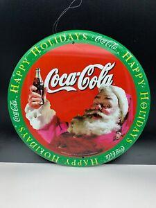 Coca-Cola-Shield-Advertisement-Metal-12in-Top-Condition