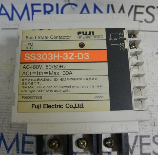 FUJI ELECTRIC SS303H-3Z-D3 SOLID STATE CONTACTOR