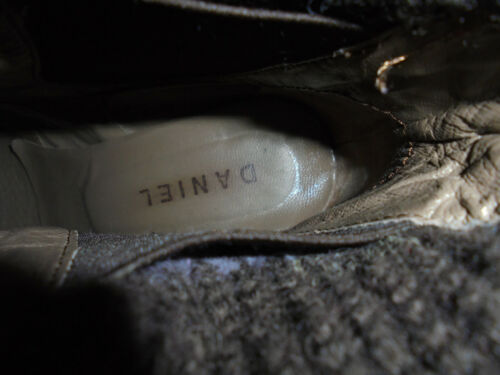 Eu Ankle pelle in Uk tessuto Vgc Slip marrone 5 Size On Donna Daniel 38 BZ0nq1Pq