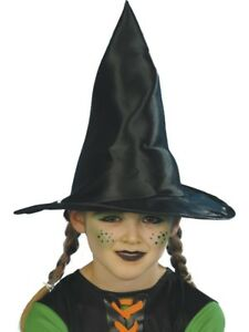 Negro-Sombrero-De-Bruja-Nina-Halloween-Accesorio-De-Disfraz-Infantil-Accesorio