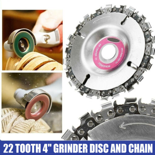 """4/"""" Angle Grinder Chainsaw Disc 22 Tooth Wood Carving Disc Saw Blades for 100//115"""