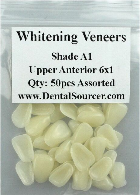 Dental Ultra-Thin Whitening Veneers Resin Teeth Upper Anterior Shade A1 80 PIECE