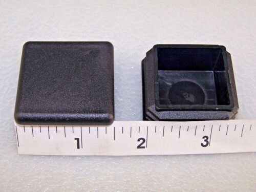 """Plastic Insert Caps//Plugs the end of 1-1//2/"""" Square Tube 14-20 gage wall// 24 PAK"""