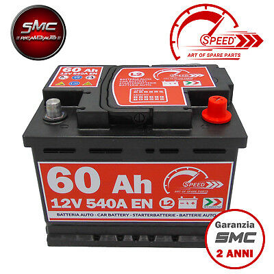 BATTERIA AUTO SPEED L2 60 Ah 540A EN = BOSCH FIAMM VARTA 60 DX + PRONTA ALL'USO