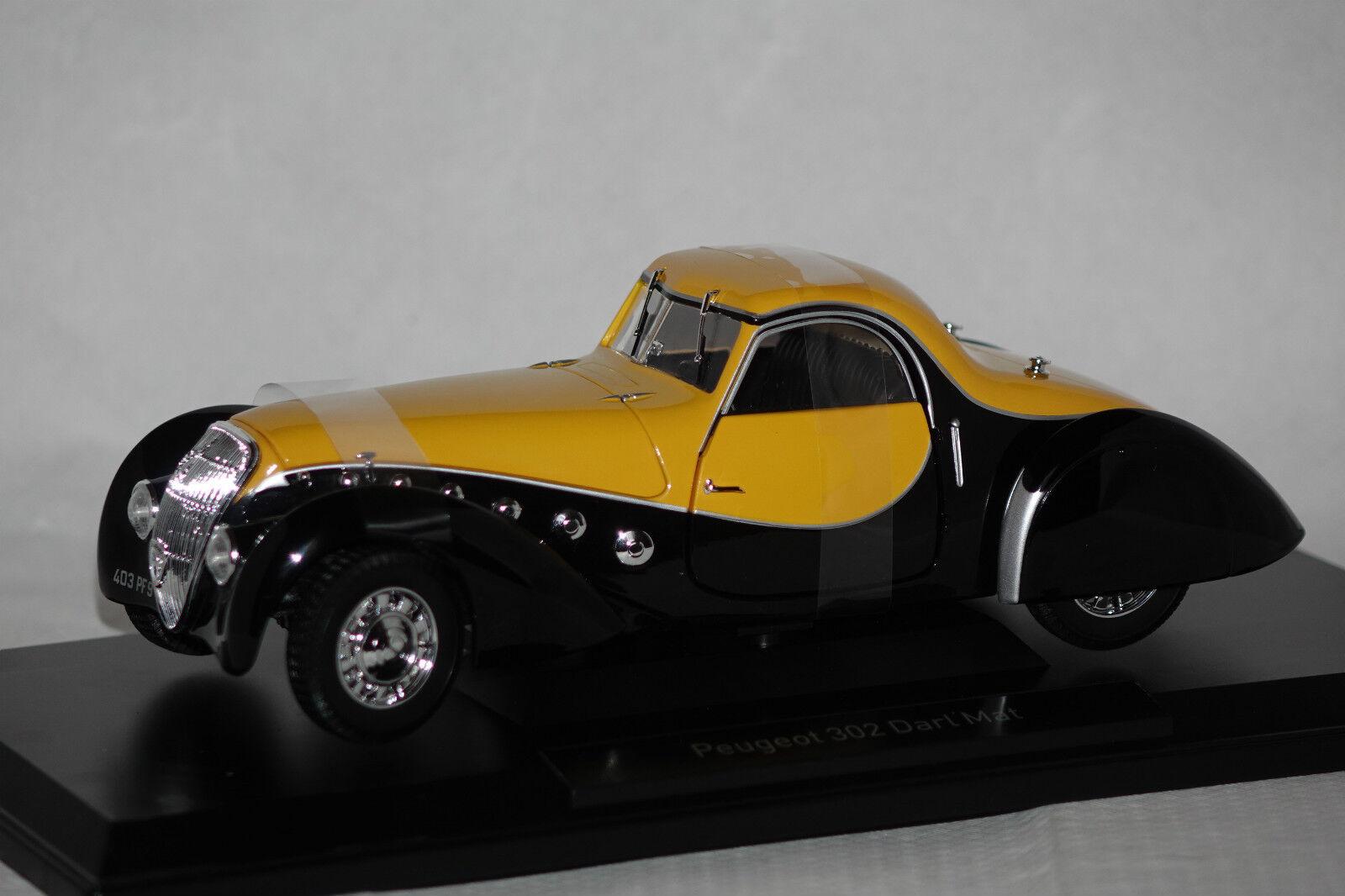 Peugeot 302 Darl`Mat Coupe 1937 noir jaune 1 18 Norev neu + OVP 184716