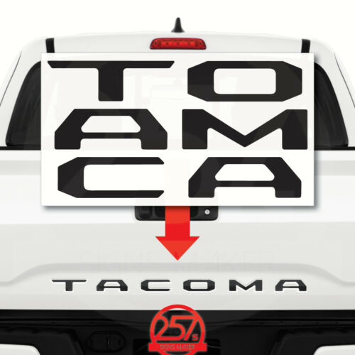 TOYOTA TACOMA Decals Tailgate Letters Insert Sticker 2016 17 18 19 MATTE BLACK