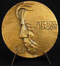 Médaille à Michel Ragon écrivain anarchiste libertaire 1977 James Guitet medal