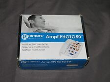 t8 Geemarc AmpliPHOTO50 Ampliphied 40dB Corded Photo Phone Missing Stretch Cord