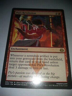 Pia/'s Revolution NM Card MTG Aether Revolt