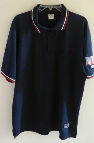 Achat 3 Cliff Keen Homme XL Bleu Marine Baseball Umpire Shirt-Blanc//Bleu Marine//Rouge Trim