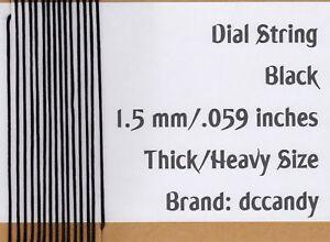 Radio-Dial-Cord-12-Ft-BRAIDED-Nylon-String-1-5mm-BLACK-for-Vintage-Radio-Tuner
