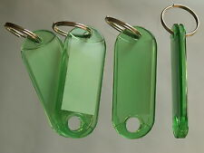 50 Schlüsselanhänger  Schlüsselschilder Anhänger m Etiketten Hart GRÜN