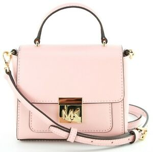 79e544c06ec9 Michael Kors Mindy Leather Cross Body Bag Small Handbag Pink RRP ...
