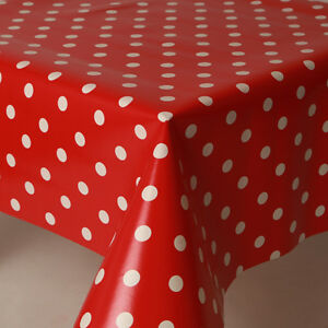 Plain Linen Material Feel Black White Polka Dots PVC Plastic Vinyl Table cloth