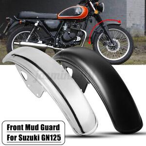Motorrad-Kotfluegel-Schutzblech-Vorne-Frontfender-Metall-56cm-Fuer-Suzuki-GN125