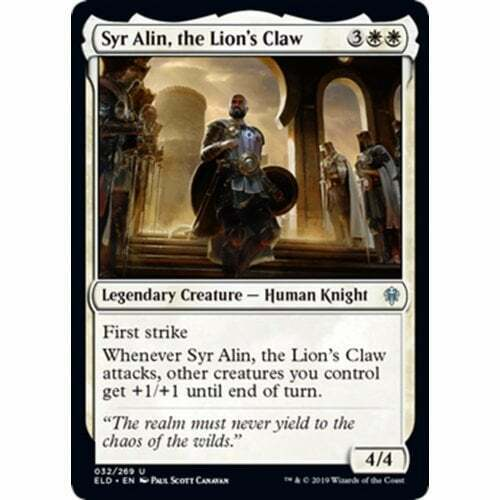 The Gathering Syr Alin Throne of Eldraine the Lion/'s Claw Magic