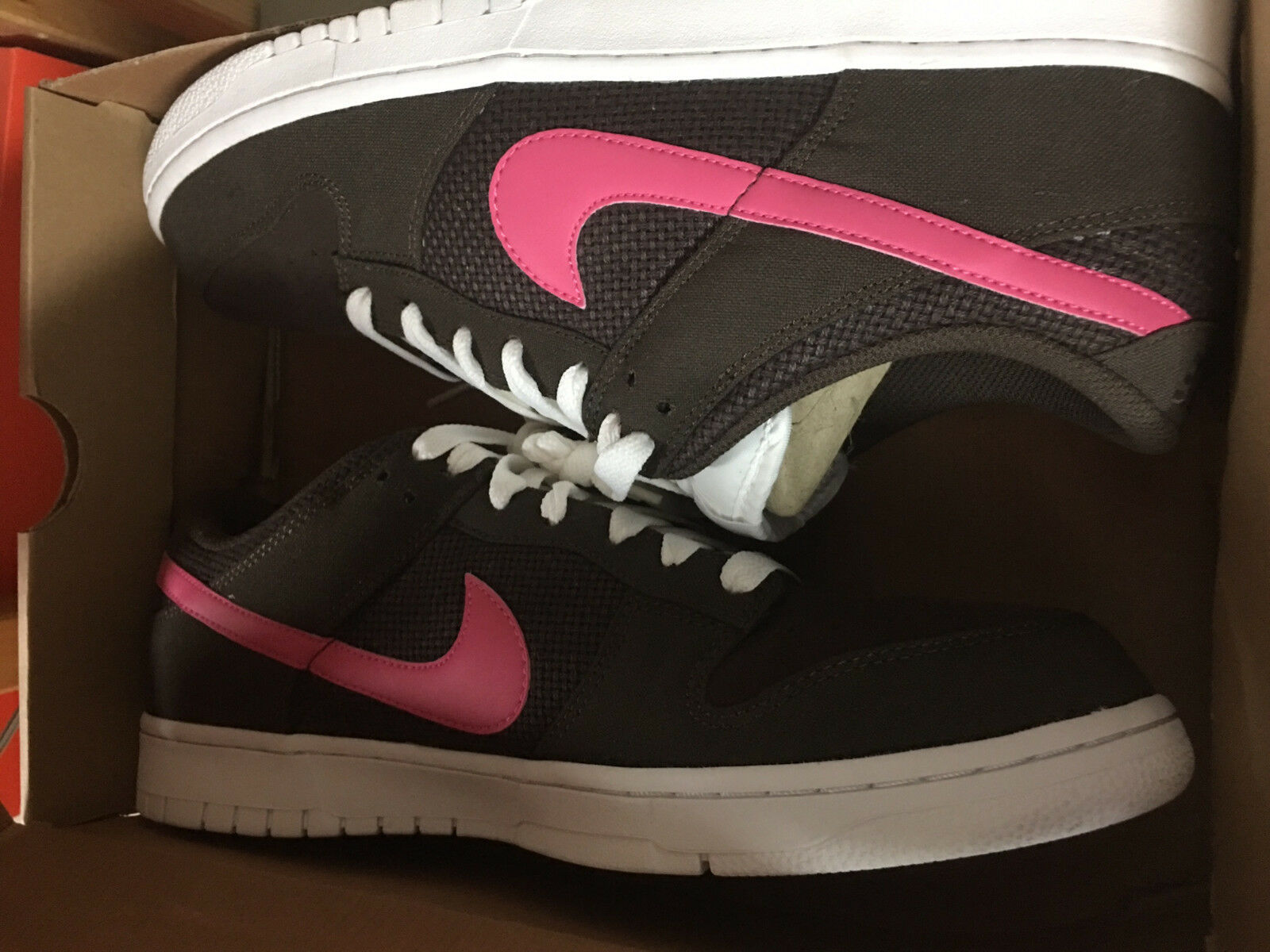 NIKE Dunk Lo LOW CL Neu Gr 42 US 8,5 Braun Rosa Force Air Turnschuhe 318020-261 Berühmter Laden
