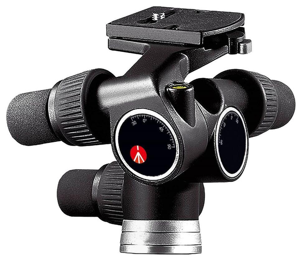 Fotostativ , Manfrotto, - stativ og hoved = vertikal / 3