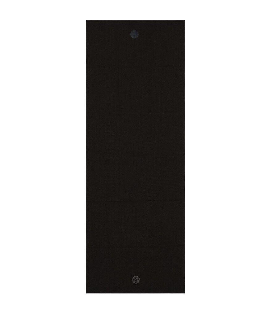 Manduka Yogitoes rSKIDLESS Non-Slip Absorbent Fitness Yoga Mat Towel - Onyx