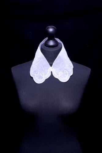 Blanco O Crema 55 Lazo Borde De Encaje Bordado organza collar del cuello Trim