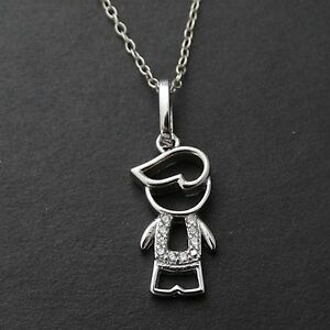 boy necklace loading new silver pendant sterling little boys son image kid cz is child itm s