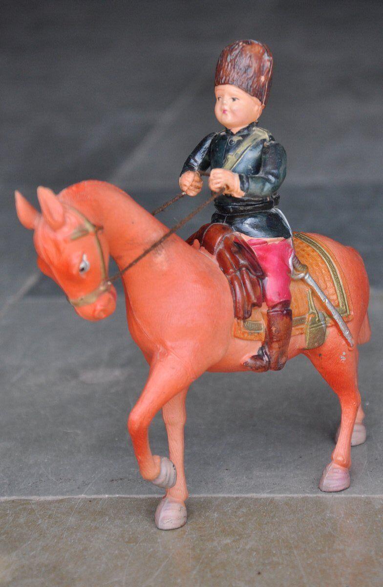 Ein soldat pferd zelluloid buntes spielzeug, japan