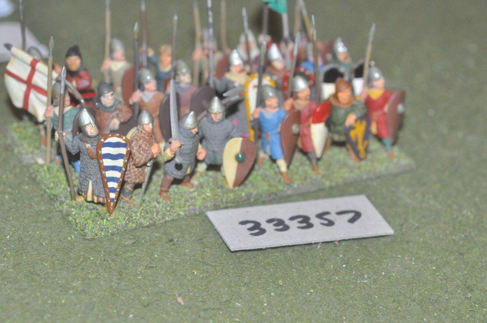 grandes ahorros 25mm 25mm 25mm medieval inglés-Lanceros feudal 24 figuras-INF (33357)  buscando agente de ventas