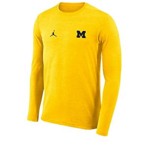 5925eb48 Image is loading Jordan-Michigan-Wolverines-Football-Dri-FIT-Coach-Lng-