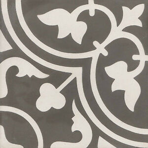 Ornament Fliesen muster der zementfliesen jugendstil braun weiß 20x20 47