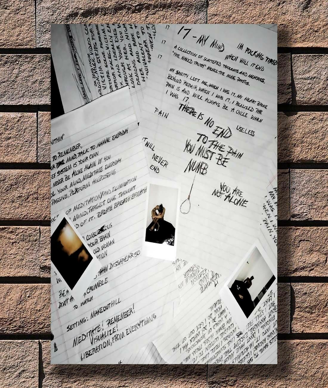 "XXXTENTACION 17 Rap Music Album Hip Hop 14x21 24x36/"" Poster Fabric Art 592"