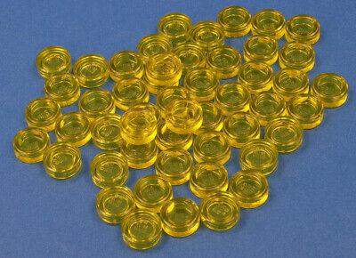 98138 NEUWARE LEGO 50 x Rundfliese 1x1 transparent gelb Rundfliesen