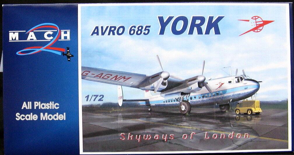 Mach 2 Models 1 72 AVRO YORK Skyways of London London London 05881f