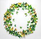 Hot Green 12PCS DIY 3D Butterfly Wall Sticker Decal Home Decor Room Decoration