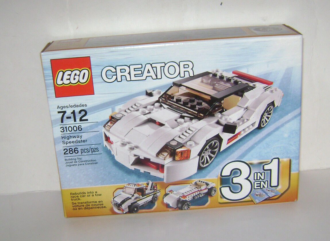 NEW 31006 Lego CREATOR Highway Speedster 3 in 1 Building Toy SEALED RETIROT A