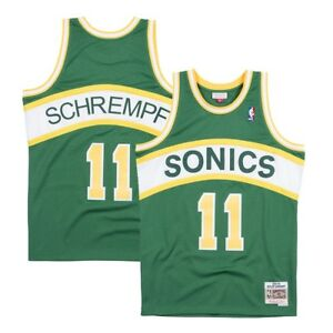 b654ca217 Details about Detlef Schrempf 1 Seattle Supersonics Mitchell   Ness NBA Men  Road Jersey