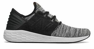 New-Balance-Men-039-s-Fresh-Foam-Cruz-v2-Knit-Shoes-Black-with-White