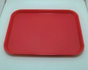 lot-of-25-Cambro-10-x-14-in-RED-cafeteria-restaurant-serving-trays-lunch-1014FF