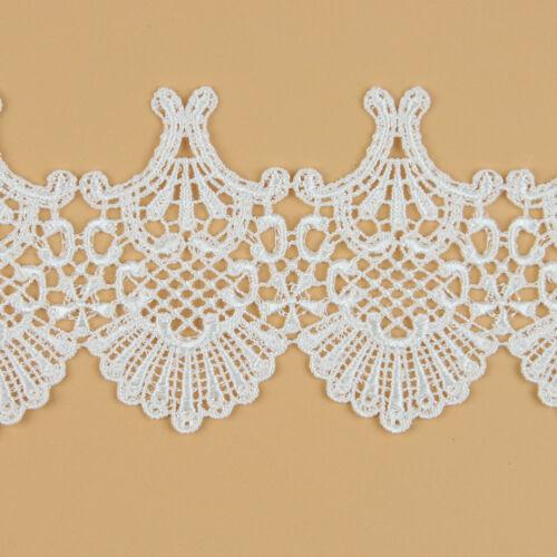 3 Yards Lace Spitze Bänder aus Polyester Verzieren Applikation Hochzeit Kleid