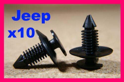 10 Pannello Porta Rivestimento Trim di plastica elementi di fissaggio Clip CHRYSLER JEEP