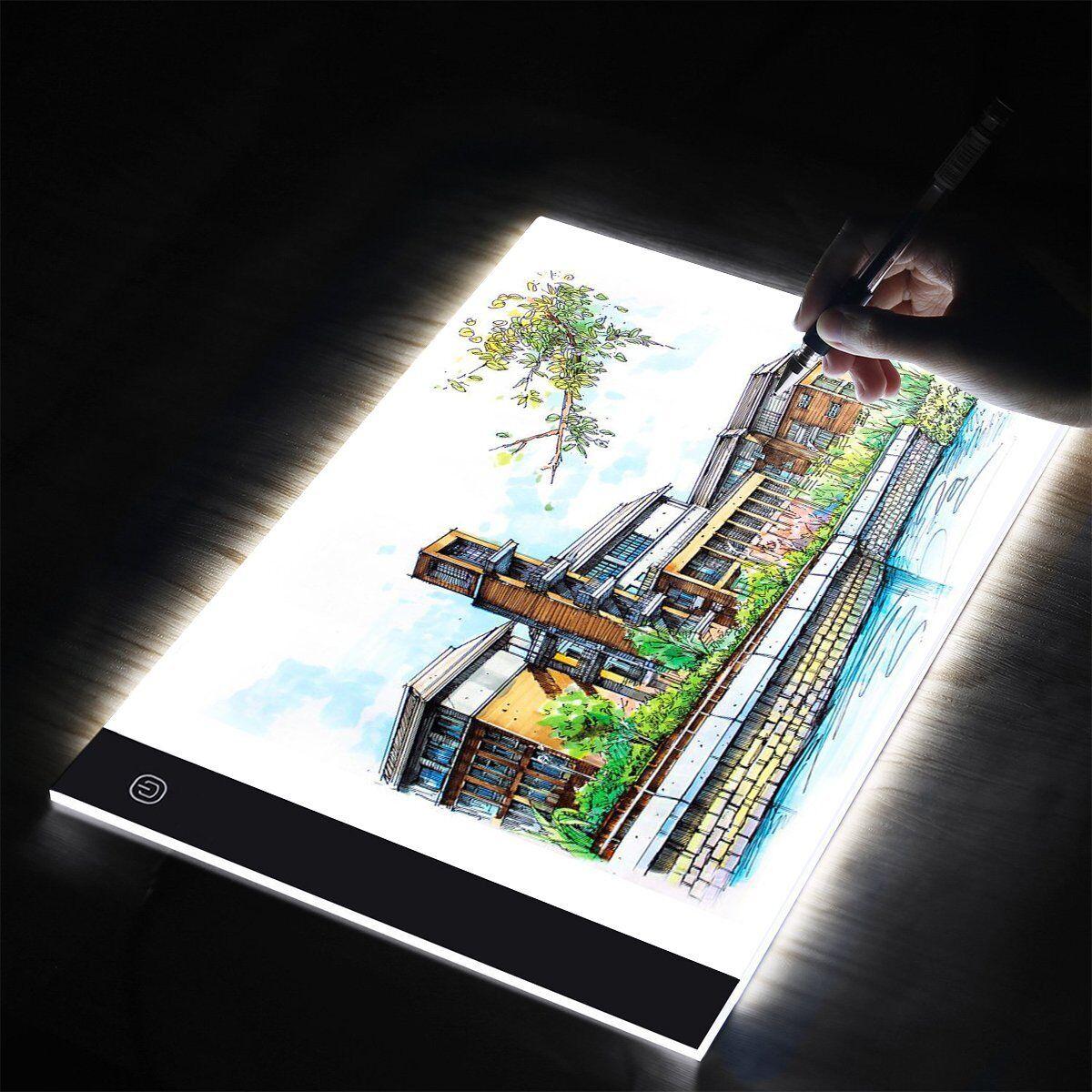 A3 A4 LED Ultra Slim Art Craft Copy Drawing Tracing Tattoo Light Box Pad Board 3