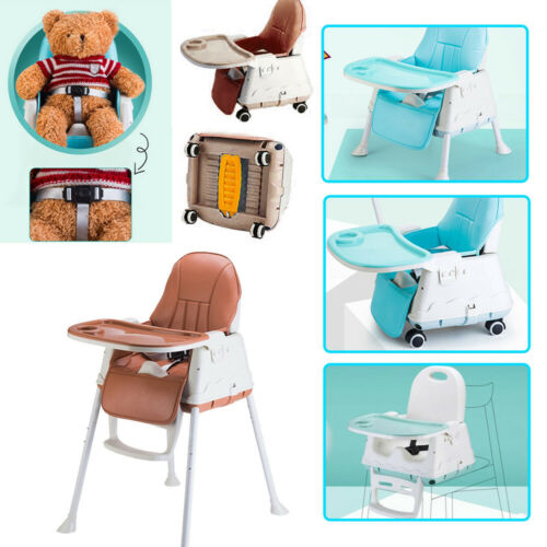 3-in-1 Baby Kids Highchair Portable Infant Feeding Seat Toddler Table Chair UK