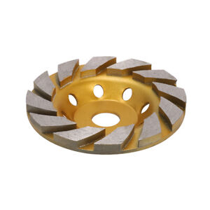 """Carbide 7/"""" Diamond Grinding Cup Wheel Disc Grinder For Concrete Granite Stone"""