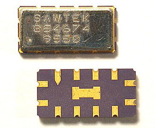 *UNUSED* Qty:2 SAWTEK 854674 RF//IF FILTER BANDPASS SAW 70 MHz BW 28 MHz