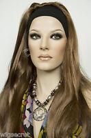 Light Gold Reddish Brown Brunette Long Straight Headbands Wigs