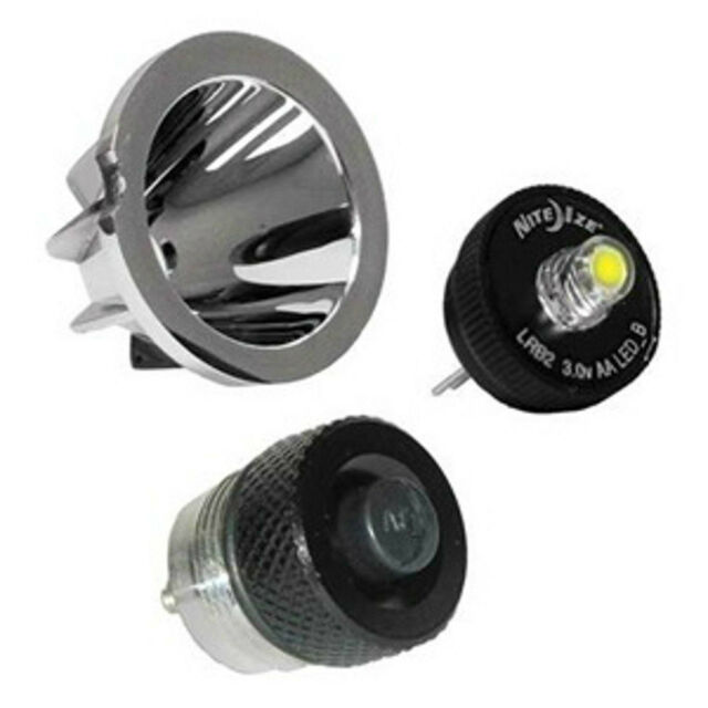 AA Mini Mag Lite LED Upgrade Bulb & on off Switch Kit With Reflector 30 Lumens | eBay