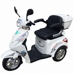 dreirad scooter seniorenmobil eco engel 501 1000 watt elektro mobil wei ebay. Black Bedroom Furniture Sets. Home Design Ideas