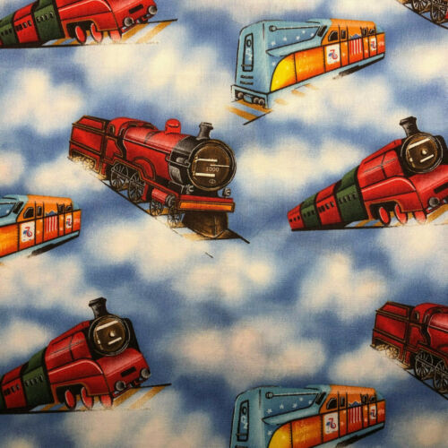 Choice Train Transportation Fabric Cotton Quilt Fabric