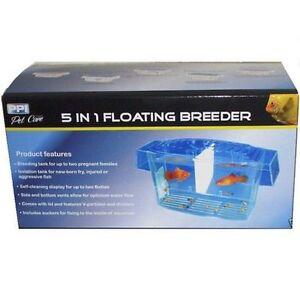 Aquarium-5-in-1-Floating-Breeder-Breeding-Tank-x2-Betta-Display-Isolation-Tank